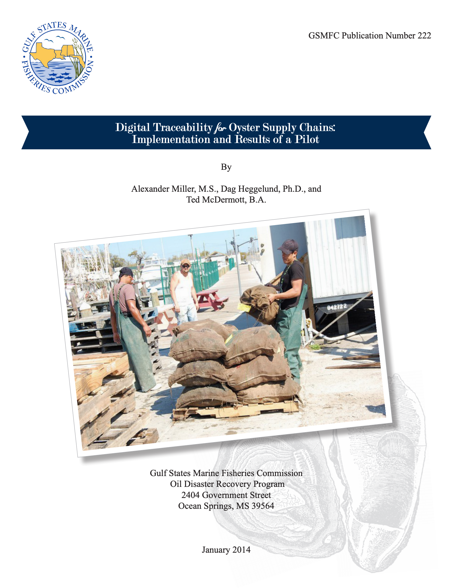 Digital Traceability for Oyster Supply Chains