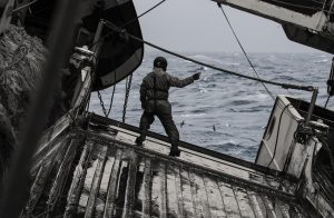 Person on board a fishing vessel