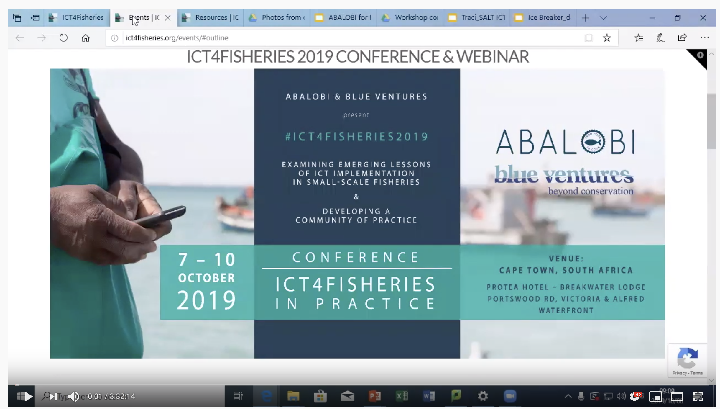 ICT4Fisheries Conference 2019 Webinar Day 2