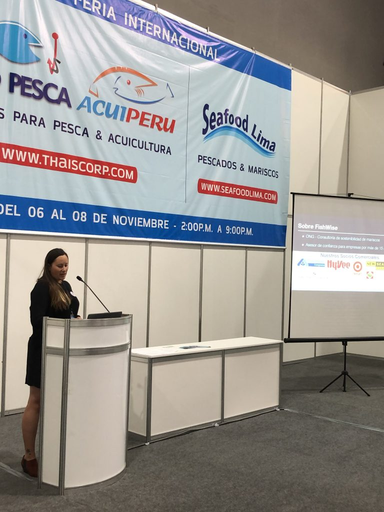Presenting at Seafood Lima