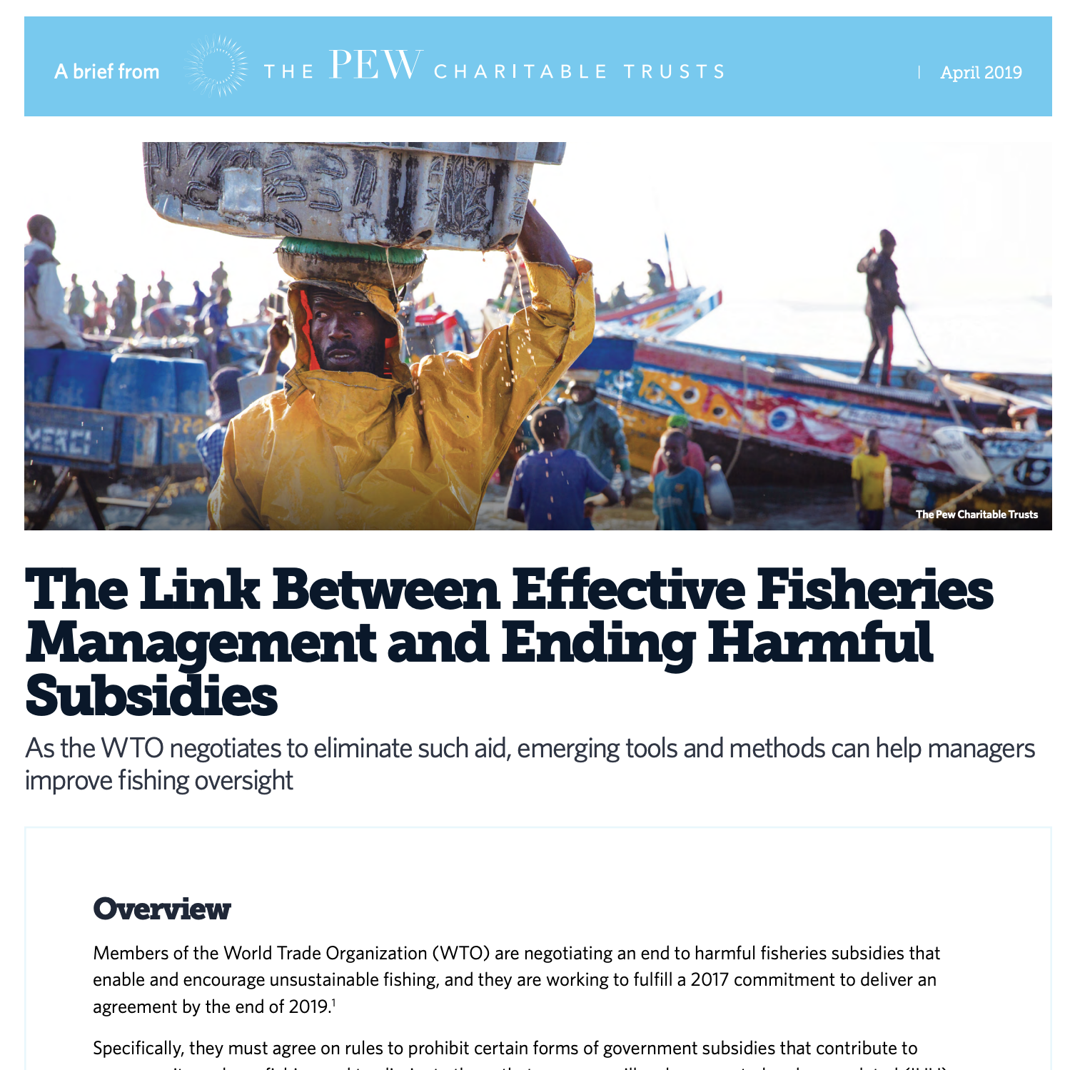 The Link Between Effective Fisheries Management and Ending Harmful Subsidies