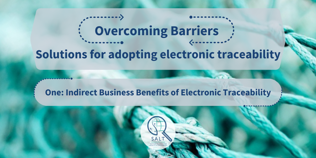 Graphic stating the title of series, Overcoming Barriers. One:Indirect Business Benefits