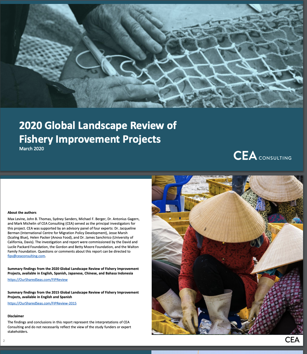 2020 Global Landscape Review of Fishery Improvement Projects
