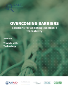 screenshot of report cover with title: Trouble with technology