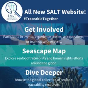 All New SALT Website, Get Involved, Seascape Map, Dive Deeper