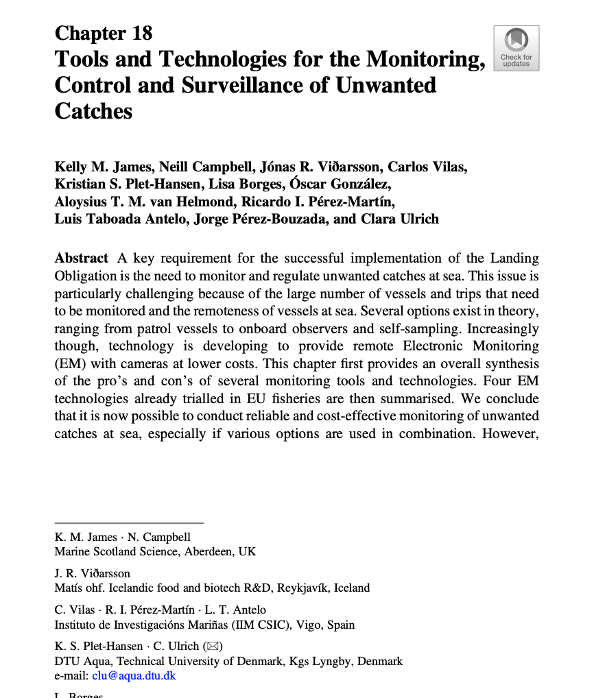 Tools and Technologies for the Monitoring, Control and Surveillance of Unwanted Catches