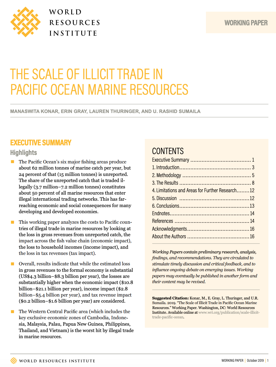 The Scale of Illicit Trade in Pacific Ocean Marine Resources