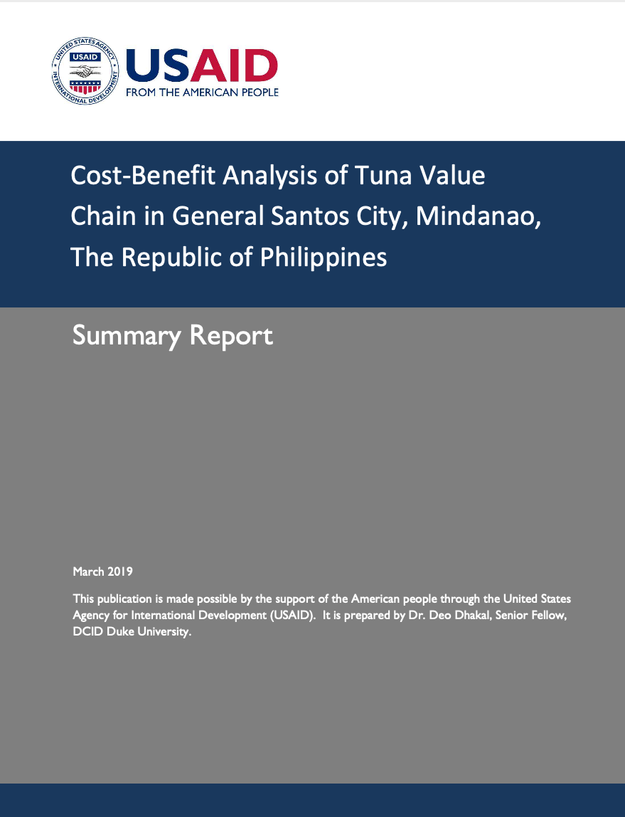 Cost-Benefit Analysis of Tuna Value Chain in General Santos City, Mindanao, The Republic of Philippines