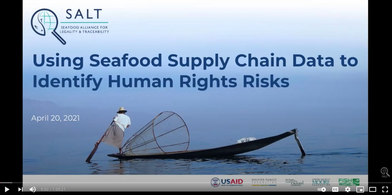 Using Seafood Supply Chain Data to Identify Human Rights Risks