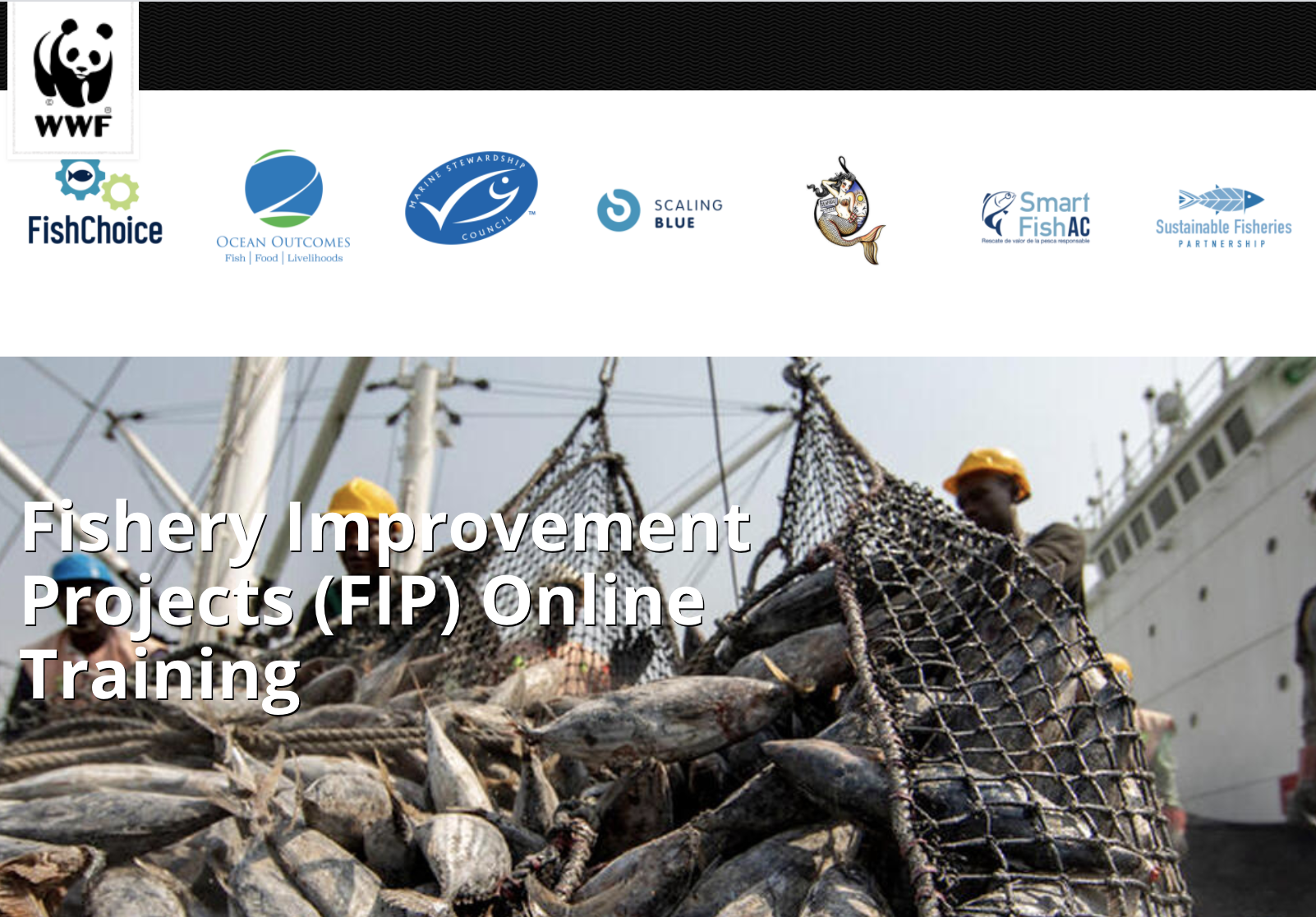 Fishery Improvement Projects (FIP) Online Training
