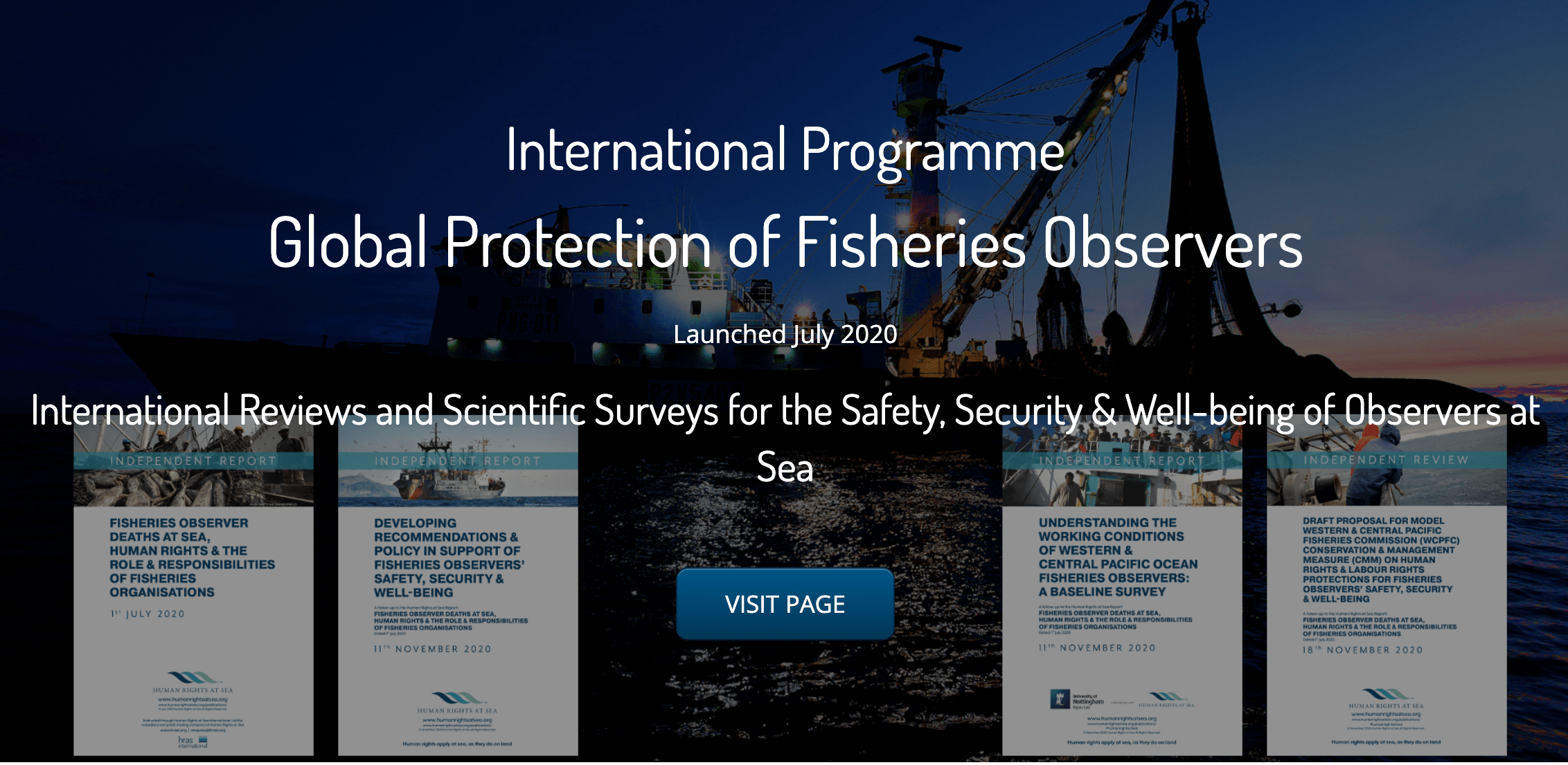 Global Protection of Fisheries Observers